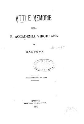 Atti e memorie   Accademia Virgiliana di Mantova PDF