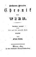 Johann Pezzl s Chronik von Wien PDF