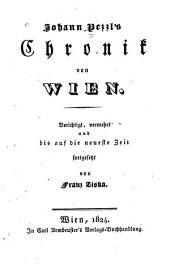 Johann Pezzl's Chronik von Wien
