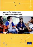 Manual for Facilitators in Non formal Education Involved in Preparing and Delivering the Programme of Study Sessions at European Youth Centres PDF