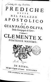 PREDICHE DETTE NEL PALAZZO APOSTOLICO: Volume 1