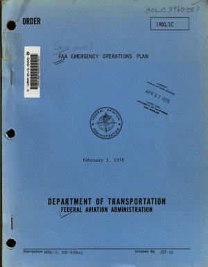 Order   FAA Emergency Operations Plan PDF