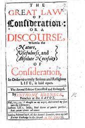 The Great Law of Consideration ... Second Edition, Corrected and Enlarged