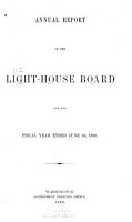 Annual Report of the Light House Board of the United States to the Secretary of the Treasury for the Fiscal Year Ended    PDF