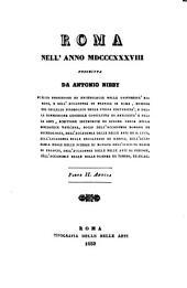 Roma nell'anno MDCCCXXXVIII [i.e. Milleotto-cento-trentotto]: pte. I-II. Antica.; 3-4. pt. I-II, Moderna