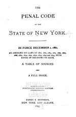 The Penal Code of the State of New York