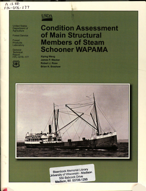 Condition Assessment of Main Structural Members of Stream Schooner WAPAMA PDF