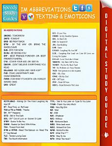 Instant Messaging Abbreviations  Texting and Emoticons
