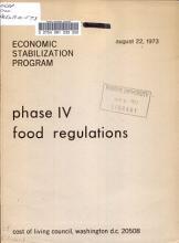 Phase IV Food Regulations PDF