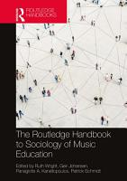 The Routledge Handbook to Sociology of Music Education PDF
