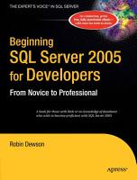 Beginning SQL Server 2005 for Developers PDF