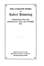 The Complete Works of Robert Browning ...: Volume 4
