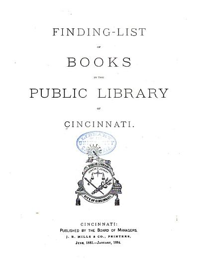 Cincinnati Public Library PDF