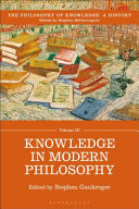 The Philosophy of Knowledge  a History PDF