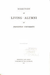 Directory of Living Alumni of Princeton University