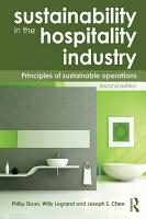 Sustainability in the Hospitality Industry 2nd Ed PDF