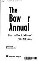 The Bowker Annual PDF