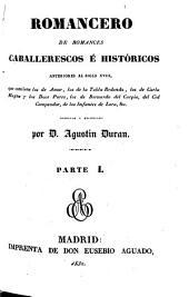 Romancero de romances caballerescos e históricos anteriores al siglo XVIII: (XLII, 224 p.)