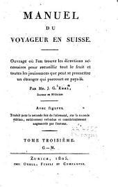 Manuel du voyageur en Suisse: Volume3