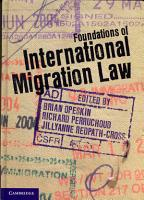 Foundations of International Migration Law PDF