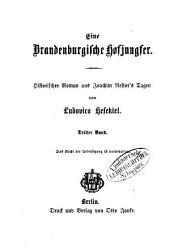 Eine Brandenburgische Hofjungfer: Historischer Roman aus Joachim Nestor's Tagen von Ludovica Hesekiel, Band 3