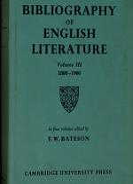 The Cambridge bibliography of English literature. 1. 600 - 1660
