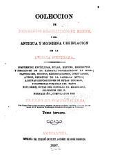 Colección de documentos eclesiásticos de México: o sea Antigua y moderna legislación de la iglesia mexicana ...
