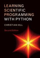 Learning Scientific Programming with Python PDF
