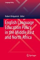 English Language Education Policy in the Middle East and North Africa PDF