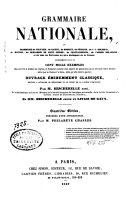 Grammaire nationale ou grammaire de Voltaire  de Racine    et de tous les   crivains les plus distingu  s de France