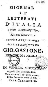 Giornale de letterati d'Italia