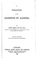 Treatise on the Elements of Algebra PDF