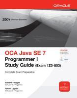 OCA Java SE 7 Programmer I Study Guide  Exam 1Z0 803  PDF