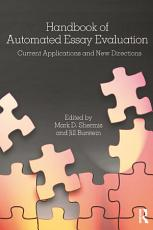 Handbook of Automated Essay Evaluation PDF