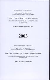 Affaire Des Plates-formes Pétrolières (Républic Islamique D'Iran V. États-Unis D'Amérique)