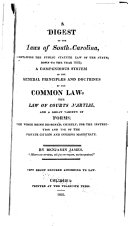 A Digest of the Laws of South-Carolina