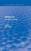 Sophocles  Routledge Revivals  PDF