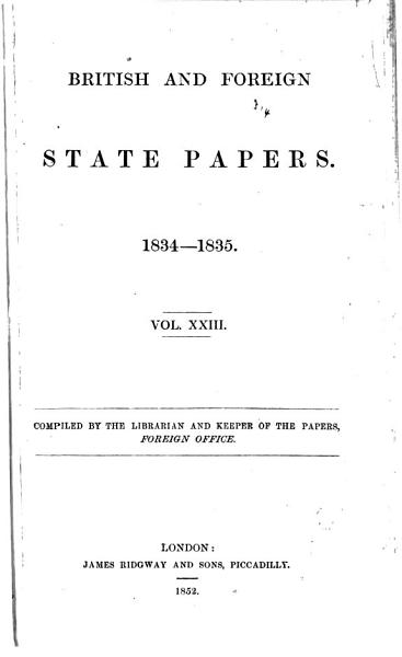 Download British and Foreign State Papers Book