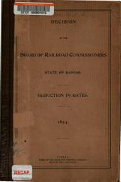 Decision of the Board of Railroad Commissioners ...: Reduction in Rate