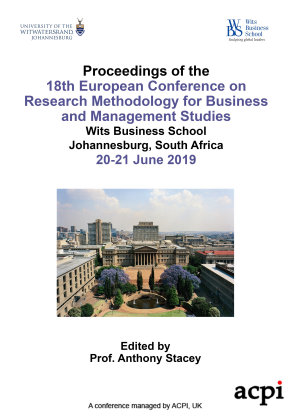 ECRM 2019 18th European Conference on Research Methods in Business and Management PDF
