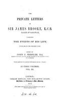 The Private Letters of Sir James Brooke  K C B   Rajah of Sarawak PDF
