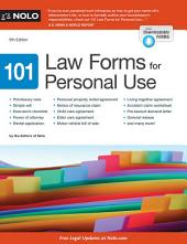 101 Law Forms for Personal Use: Edition 9