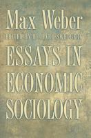 Essays in Economic Sociology PDF