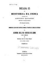 Bocarro, A. Decada 13 da historia da India. 1876: Volume 2,Parte 2;Volume 6,Parte 2