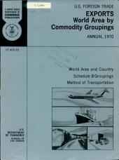 U.S. Foreign Trade: exports, world area by commodity groupings