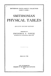 Smithsonian Physical Tables: Volume 71