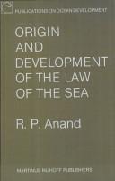 Origin and Development Pf the Law of the Sea PDF