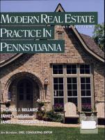 Modern Real Estate Practice in Pennsylvania PDF