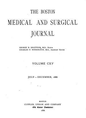 The Boston Medical and Surgical Journal PDF