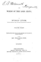 The Words of the Lord Jesus: Volumes 1-2